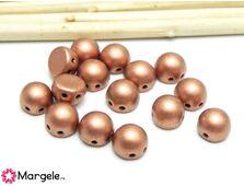 Cabochon 7mm matte metallic copper (10buc)