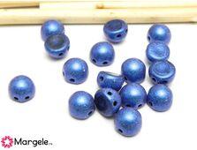 Cabochon 7mm metallic suede blue (10buc)