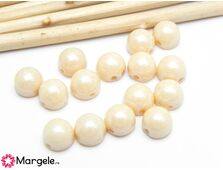 Cabochon 7mm opaque luster champagne (10buc)
