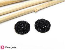 Cabochon rasina 12mm negru (1buc)