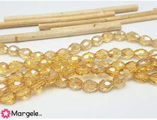 Cristal picatura 7x6mm auriu ab (1buc)