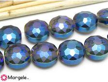 Cristal rotund plat 14x10mm albastru (1buc)