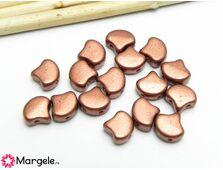 Ginkgo 7.5mm matte metallic copper (10buc)