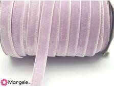 Panglica catifea 10mm mov pal (1m)