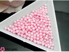 Perle cehia 3mm powder pastel pink (10buc)