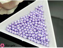 Perle cehia 3mm powder pastel purple (10buc)