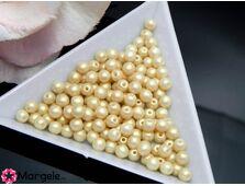 Perle cehia 4mm powder pastel lt gold (10buc)