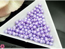 Perle cehia 4mm powder pastel purple (10buc)