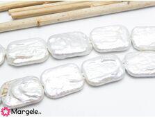 Perle de cultura dreptunghiulare 18x14mm (1buc)