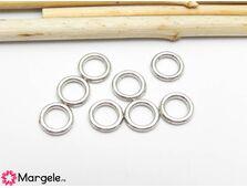 Zale inchise 7x1mm argintiu inchis (10buc)