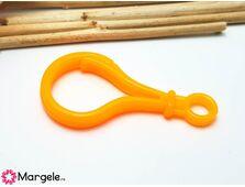 Clipsuri plastic 50x25mm portocaliu (1buc)