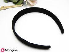 Cordeluta imbracata in saten 125x20mm negru
