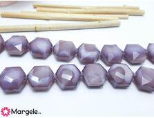 Cristal hexagon 15x14mm lavanda opac (1buc)