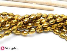 Cristal oval 6x4mm auriu (1buc)