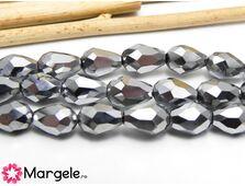 Cristal picatura 6x4mm argintiu (1buc)