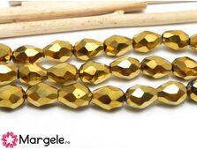 Cristal picatura 6x4mm auriu (1buc)