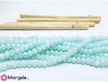 Cristal rondel 4x3mm turcoaz pal opac ab (1buc)