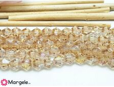 Cristale biconice bej ab 6mm (10buc)