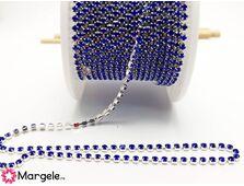 Lant cu strasuri 2mm albastru (0.5m)