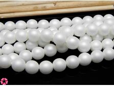 Perle cehia 6mm powder pastel white (10buc)