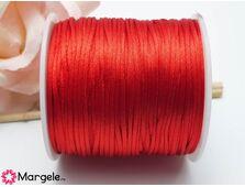 Snur satinat 1mm rosu (1m)