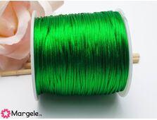 Snur satinat 1mm verde (1m)