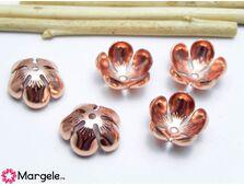 Capacele 13x5mm rose gold (1buc)