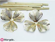 Capacele filigran aurii 46x46x0.3mm (1buc)