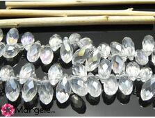 Cristal briolete 12x6mm transparent ab (1buc)