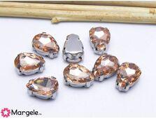 Distantier montee cu rhinestone de cristal 10x8mm somon