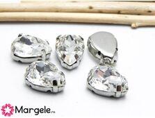 Distantier montee cu rhinestone de cristal 14x10mm crystal