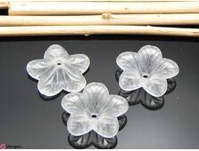Margele acrilice floare 18x5mm (1buc)
