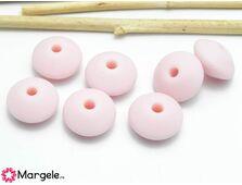 Margele de silicon 12x6mm roz (1buc)