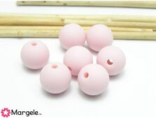 Margele de silicon 8mm roz (1buc)