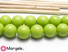 Margele sticla 12mm verde opac (1buc)