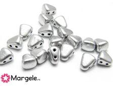 Nib-bit 6x5mm matte metallic silver (20buc)