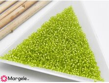 Toho rotunde 15/0 silver lined lime green (5g)