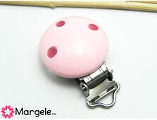 Clips pentru lant suzeta 46x30x17mm roz (1buc)