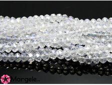 Cristal rondel 2.5x2mm transparent ab (10buc)