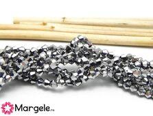Cristale biconice 3mm argintiu (10buc)