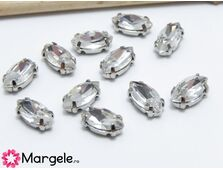 Distantier montee cu rhinestone de cristal 10x5mm crystal