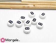 Margele acrilice litera b 7x4mm (10buc)