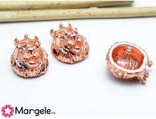 Margele distantier leu 15x11mm rosegold (1buc)