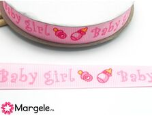 Panglica bebe 14mm roz (1m)