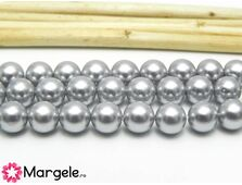 Perle tip mallorca 6mm gri (1buc)