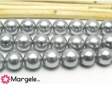 Perle tip mallorca 8mm gri (1buc)
