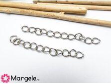 Prelungitor lant 5cm argintiu inchis (1buc)