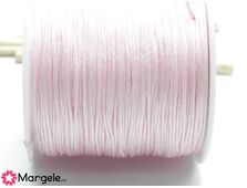 Snur cu nylon pentru bratari 0.8mm roz pastel (1m)