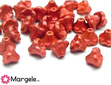 Cehia flori 5x7mm lava red (10buc)