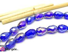 Cristal picatura 11x8mm albastru inchis ab
